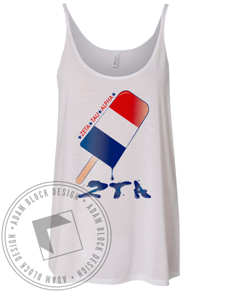 Zeta Tau Alpha Popsicle Tank-Adam Block Design