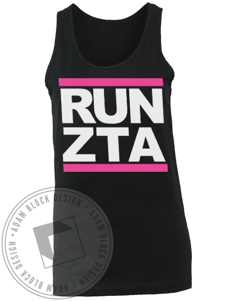 Zeta Tau Alpha Run Tank-Adam Block Design