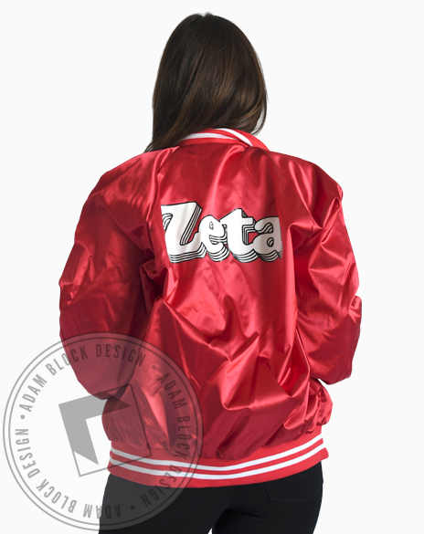 Zeta Tau Alpha Satin Baseball Jacket-gallery-Adam Block Design