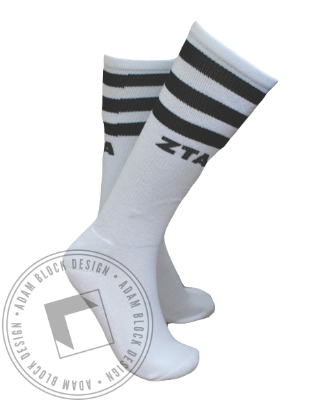 Zeta Tau Alpha Socks-gallery-Adam Block Design
