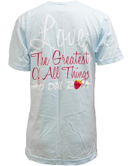 Zeta Tau Alpha Strawberry V-Neck-Adam Block Design