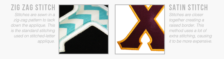 zig zag and satin stitch examples for greek letter shirts