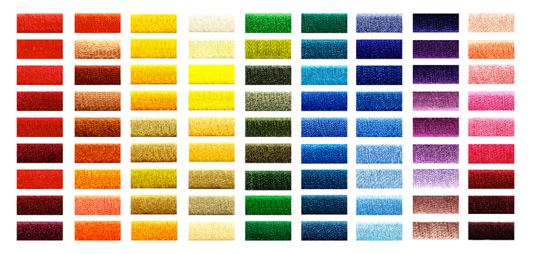 Stitch Color texture examples for custom greek sorority shirt orders