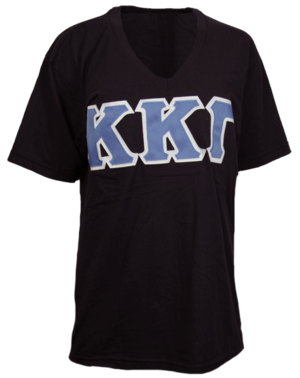 Kappa Kappa Delta Greek letter shirt with blue letters