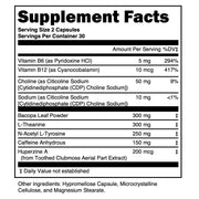 Pharmanaut Focus Supplement Facts