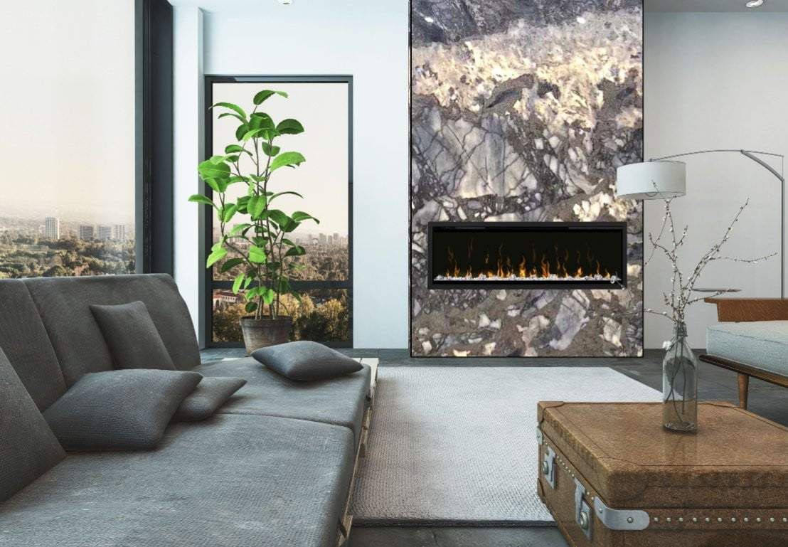 Translucent Thin Slab Fireplace - Slabxstudio