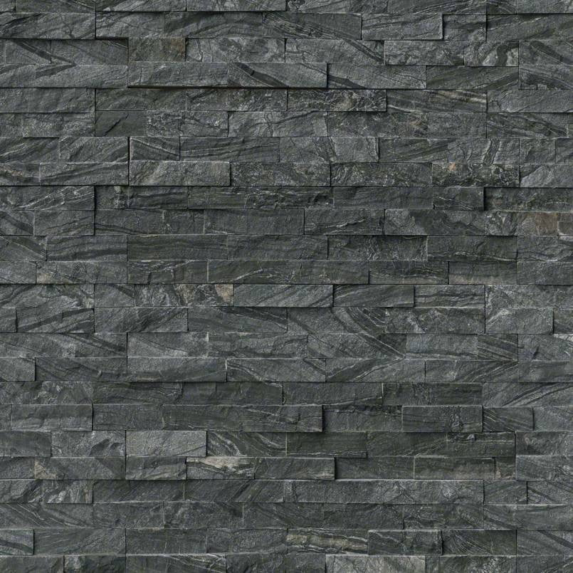 GLACIAL BLACK - Stacked Stone - Slabxstudio