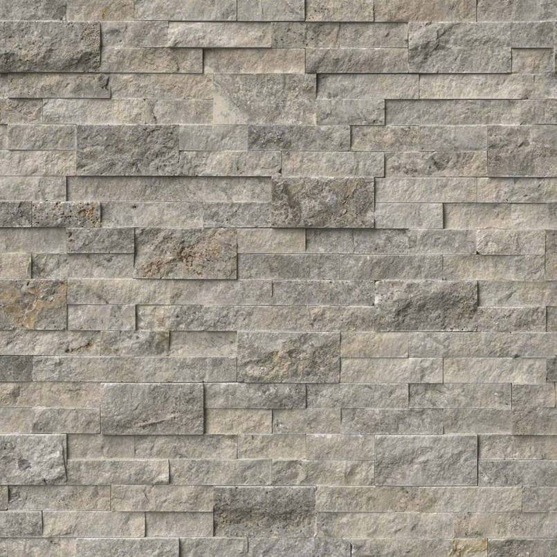 SILVER TRAVERTINE- Stacked Stone - Slabxstudio