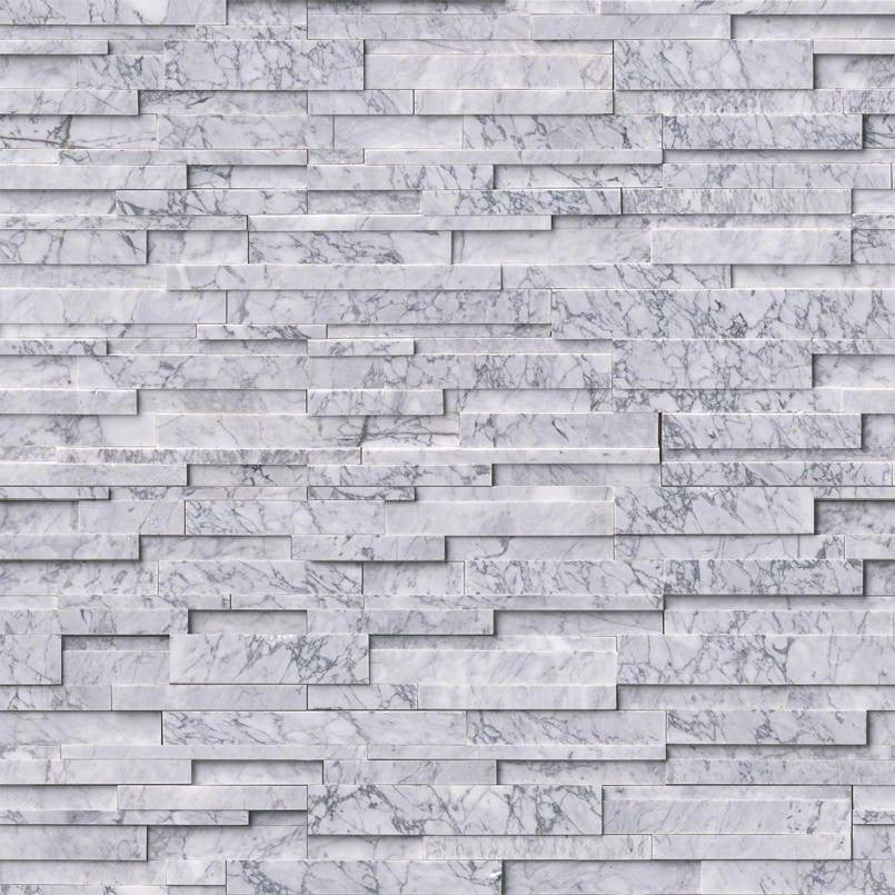 STATUARIETTO CAPRI 3D HONED - Stacked Stone - Slabxstudio