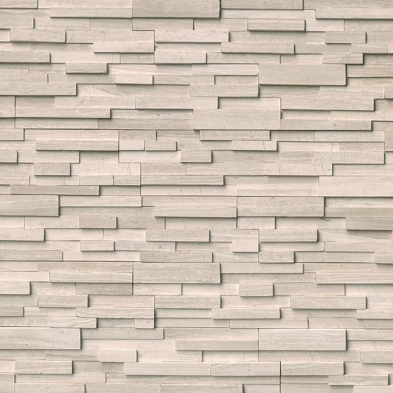 WHITE OAK 3D HONED - Stacked Stone - Slabxstudio