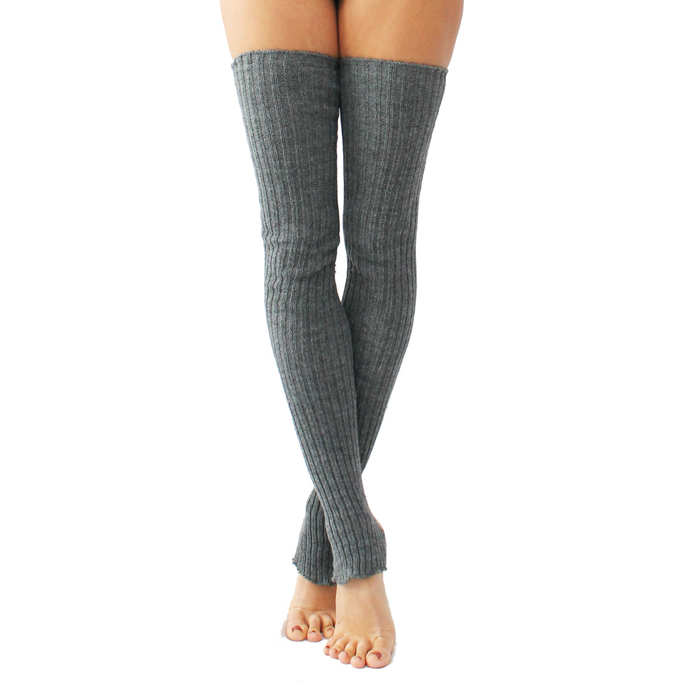Wink - Stirrup Leg Warmers Grey
