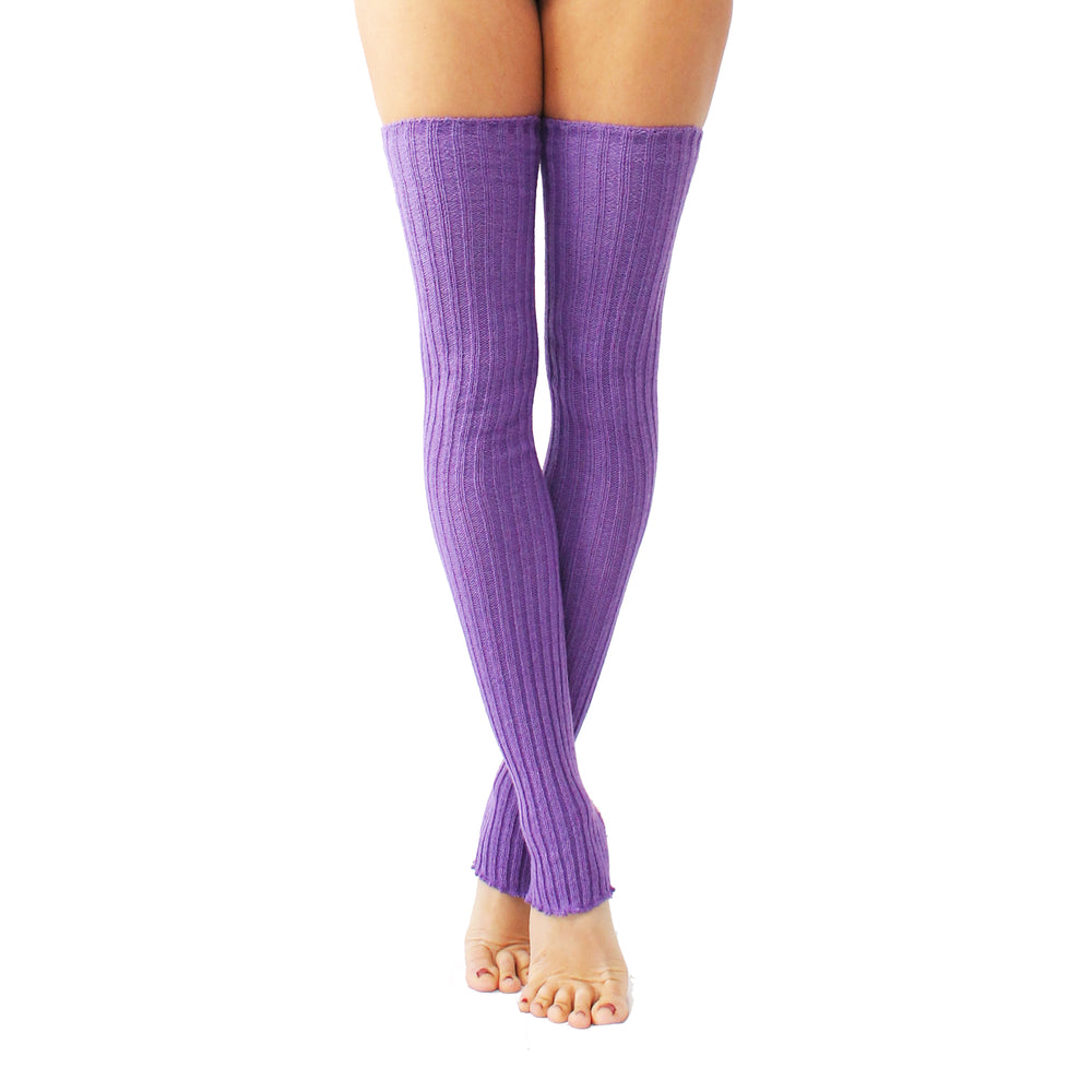 Wink - Stirrup Leg Warmers Purple