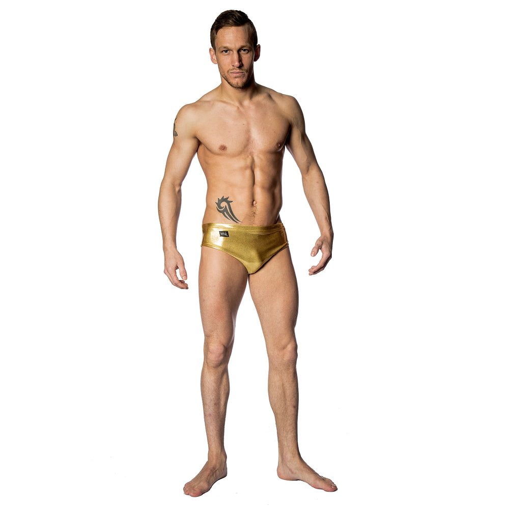 Wink - Men's High Leg Shorts Gold