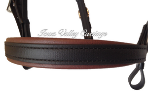 Synthetic Harness Bridle Noseband