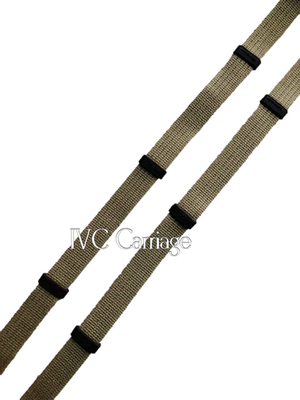 Cotton Grip Horse Driving Reins | IVC Carriage