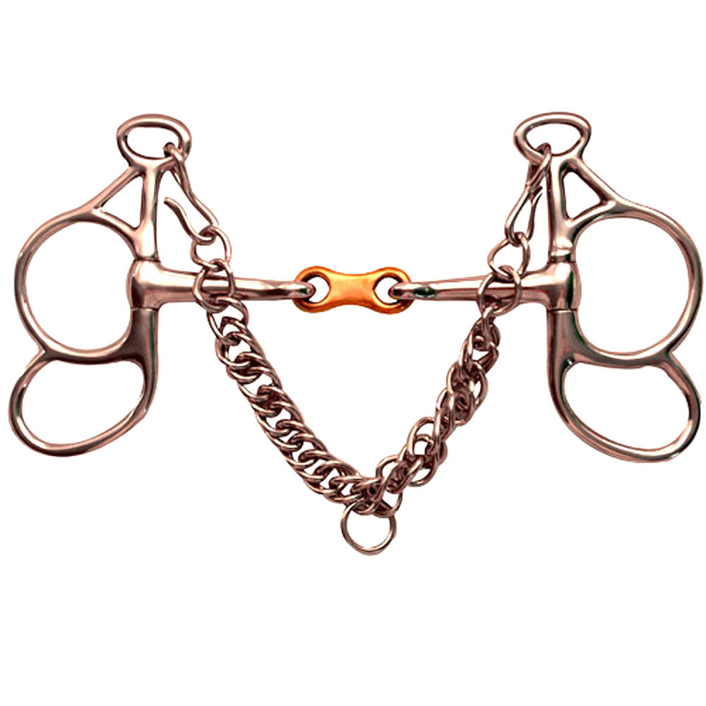 French Link Butterfly Horse Bit