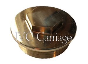Carriage Wheel Hub Cap - Brass