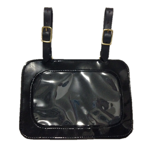 Patent Leather Carriage Show Number Holder