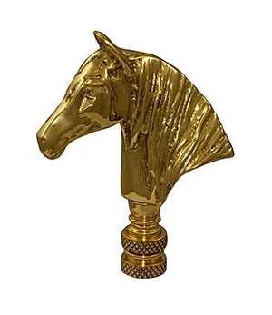 Horse Head Lamp Finial