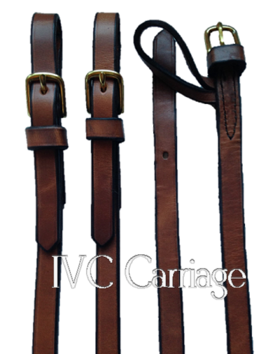 Leather Horse Tandem Driving Reins