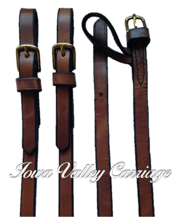 IVC Traditional Leather Pair (Team) Driving Reins