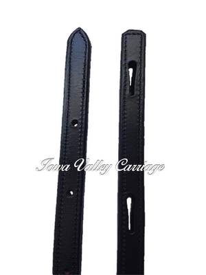 Miniature Leather Harness Slot End Traces