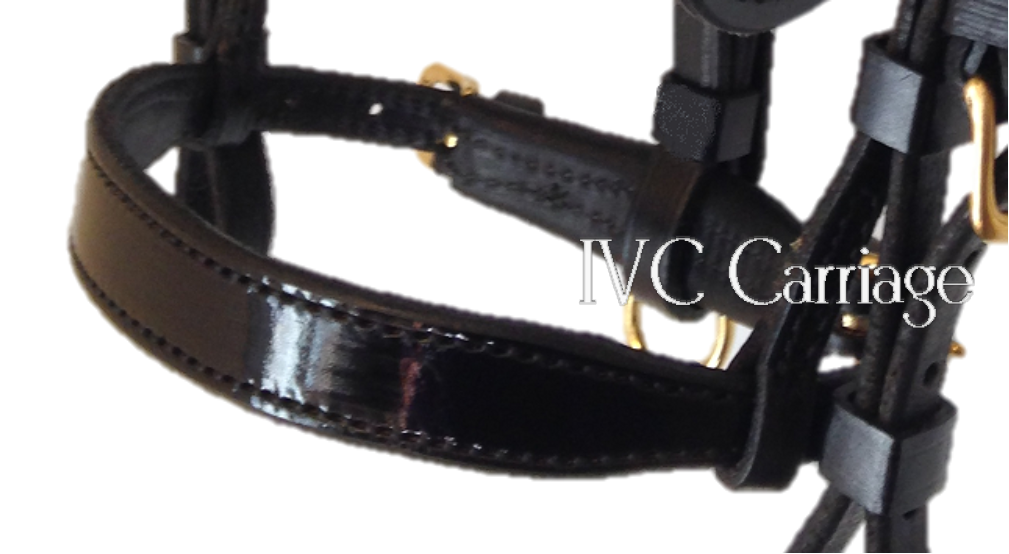 Leather Double Buckle Harness Noseband