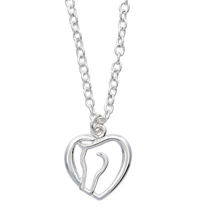 Horse Head Heart Pendant Necklace | IVC Carriage