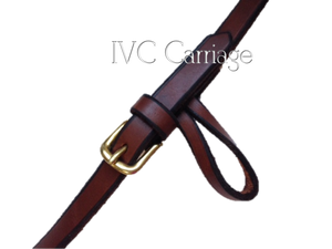 Leather Horse Driving Reins Pinky Loop
