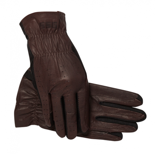 SSG Pro Show Brown Carriage Driving Gloves | IVC Carriage