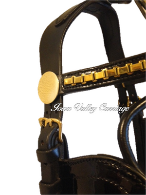 Leather Elite Horse Harness Bridle