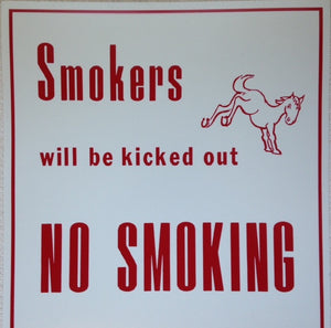 Horse No Smoking Sign
