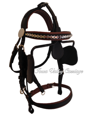IVC Traditional Synthetic Horse Harness Bridle