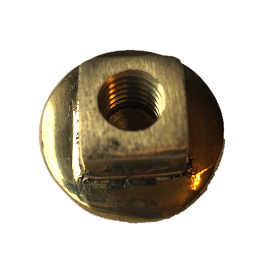 Horse Buggy Top Nut - Brass