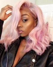 Load image into Gallery viewer, 'VALENTINA' Pastel Pink Silky Straight Wig Remy Human Hair Wig