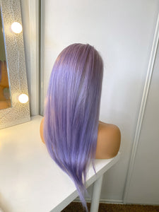 'MADISON'  Lilac Silky Straight Remy Human Hair Wig