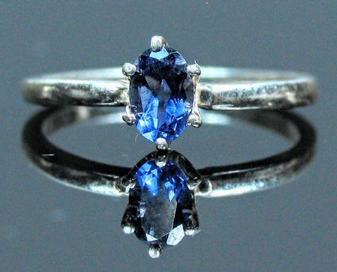 Solid 14kt Yellow, White, or Rose Gold Natural Blue Sapphire, 5x3-7x5mm Oval, VS Clarity, Ring Size 5-8, 143-466, Fine Jewelry