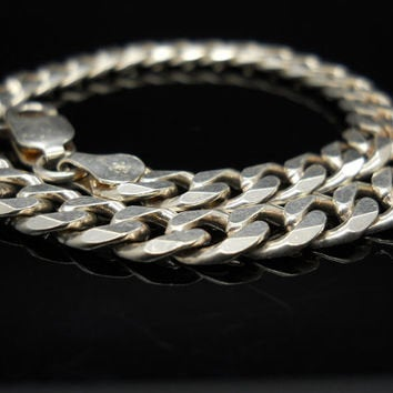 "925 Solid Sterling Silver Extra Heavy Curb Bracelet, 8"" or 9""  10mm, New, Made in USA 469-018, Unisex, Men's, Real Silver, DYI Jewelry"