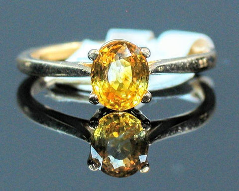 Solid 14kt Yellow, White, or Rose Gold Natural Yellow Sapphire, 7x5-9x7mm Oval, VS Clarity, Ring Size 5-8, 143-498, Fine Jewelry