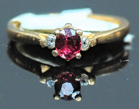 Solid 14kt Yellow, White, or Rose Gold Natural Ruby or Blue Sapphire, Diamond Accented, VS Clarity, Ring Size 5-8, 143-524, Fine Jewelry