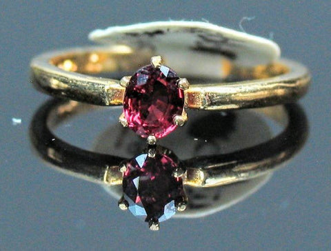 Solid 14kt Yellow, White, or Rose Gold Natural Blood Red Ruby, 5x3-7x5mm Oval, VS Clarity, Ring Size 5-8, 143-466, Fine Jewelry, Solitaire