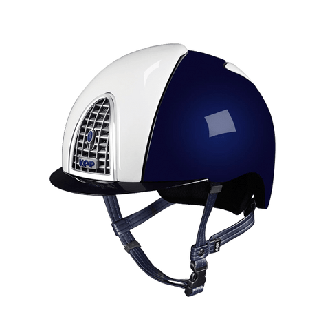 KEP ITALIA Kask Jeździecki XC Cross Shine Dark Blue & White