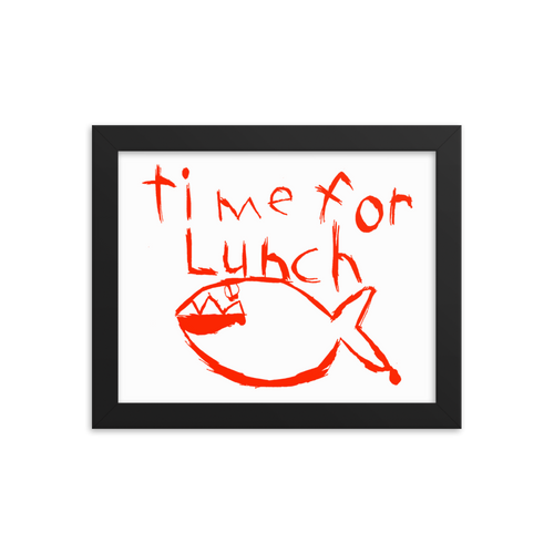 Time for Lunch Framed Print