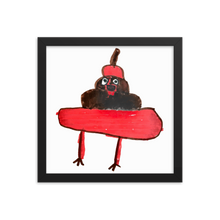 Load image into Gallery viewer, Evil Poo Framed Print