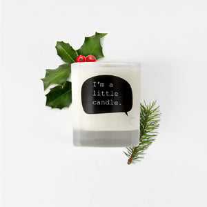Cognac Christmas pudding soy wax candle - I'm a little candle