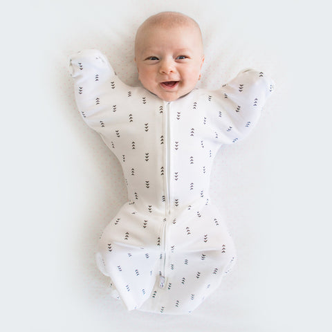 Transitional Swaddle Sack smiling baby