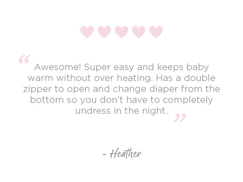 Transitional Swaddle Sack Quote Heather