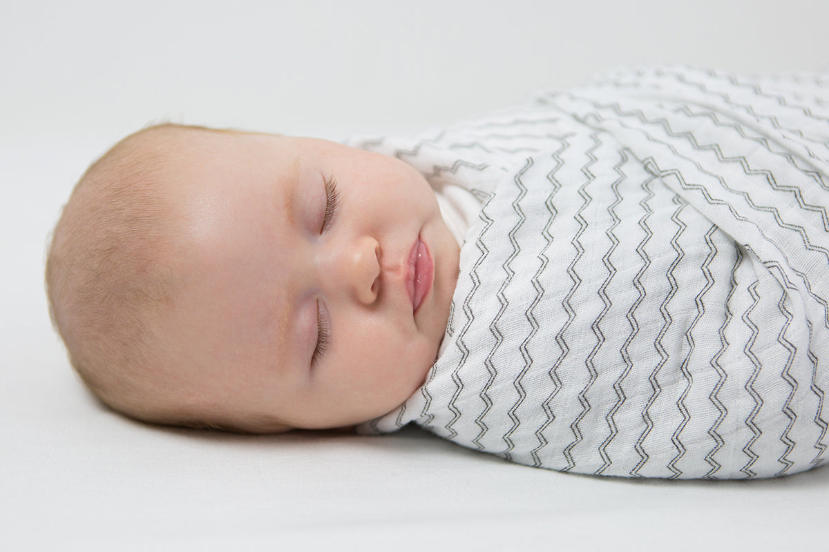 Safe Sleep Baby Images - Swaddle Mini ZigZag