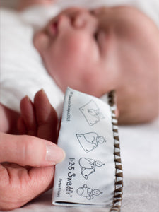 How to Swaddle Baby Tag