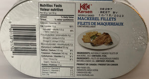 Smoked Mackerel Fillets                (12 x 190g)  __ New Size - 12 pack